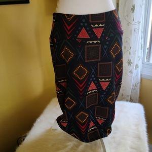LuLaRoe Cassie Pencil Skirt Size L